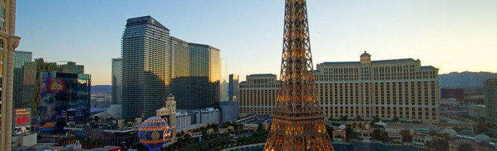 Paris Las Vegas at Twilight