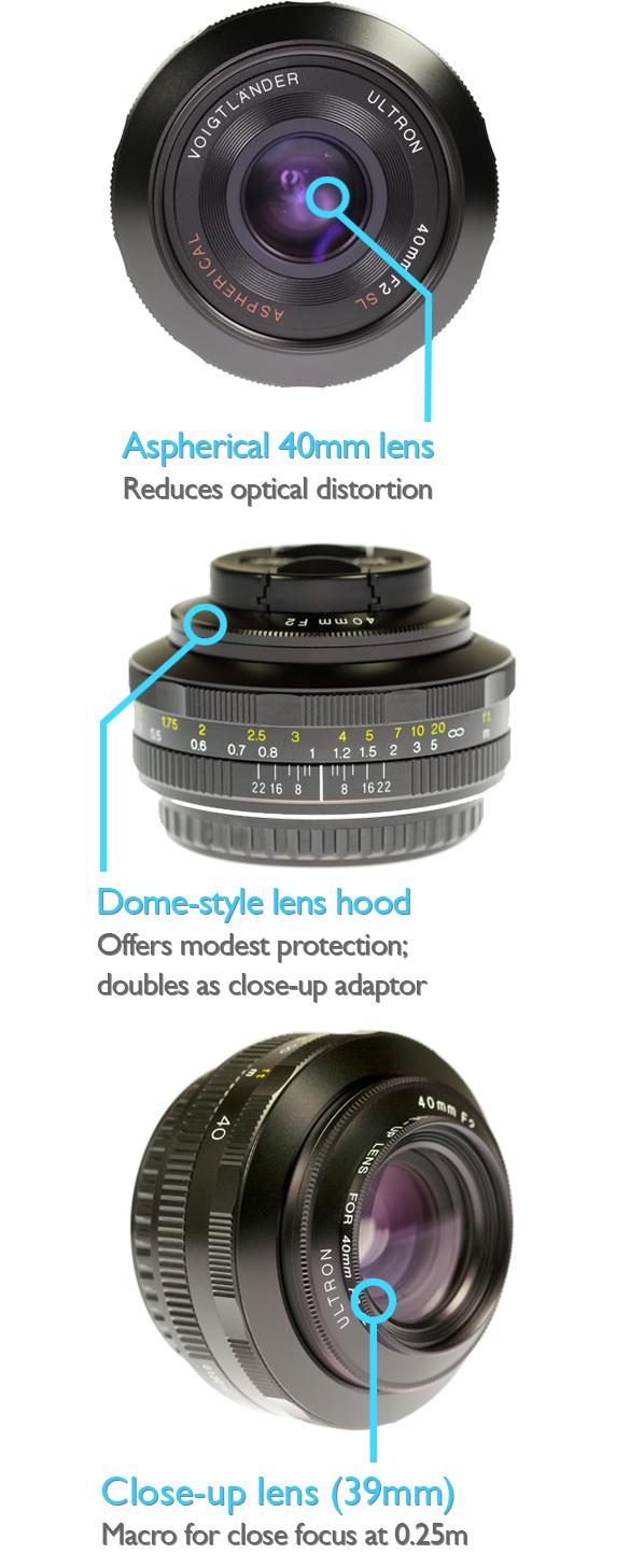 Voigtlander 40mm f2.0 SL-II aspherical lens